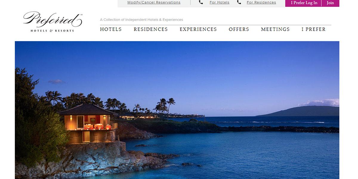 Preferred Luxury Hotel Website Design 6