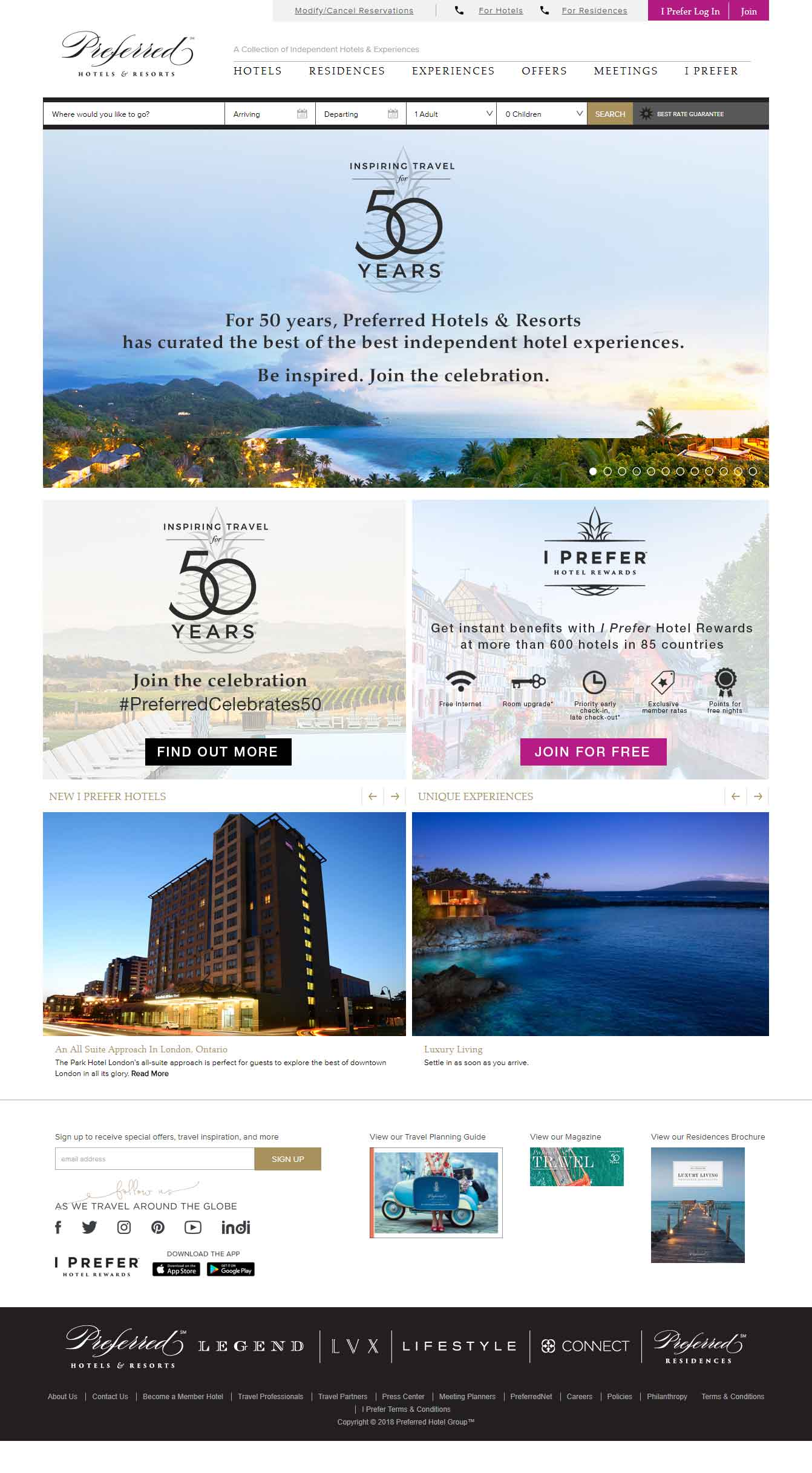 Preferred Luxury Hotel Website Design 5