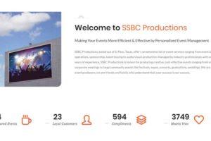 SSBC LLC Event Organizer Website Design 3