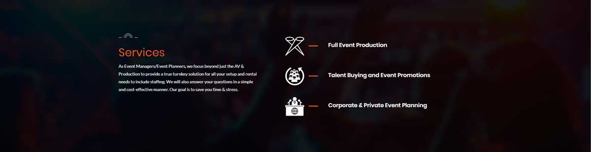 SSBC LLC Event Organizer Website Design 4