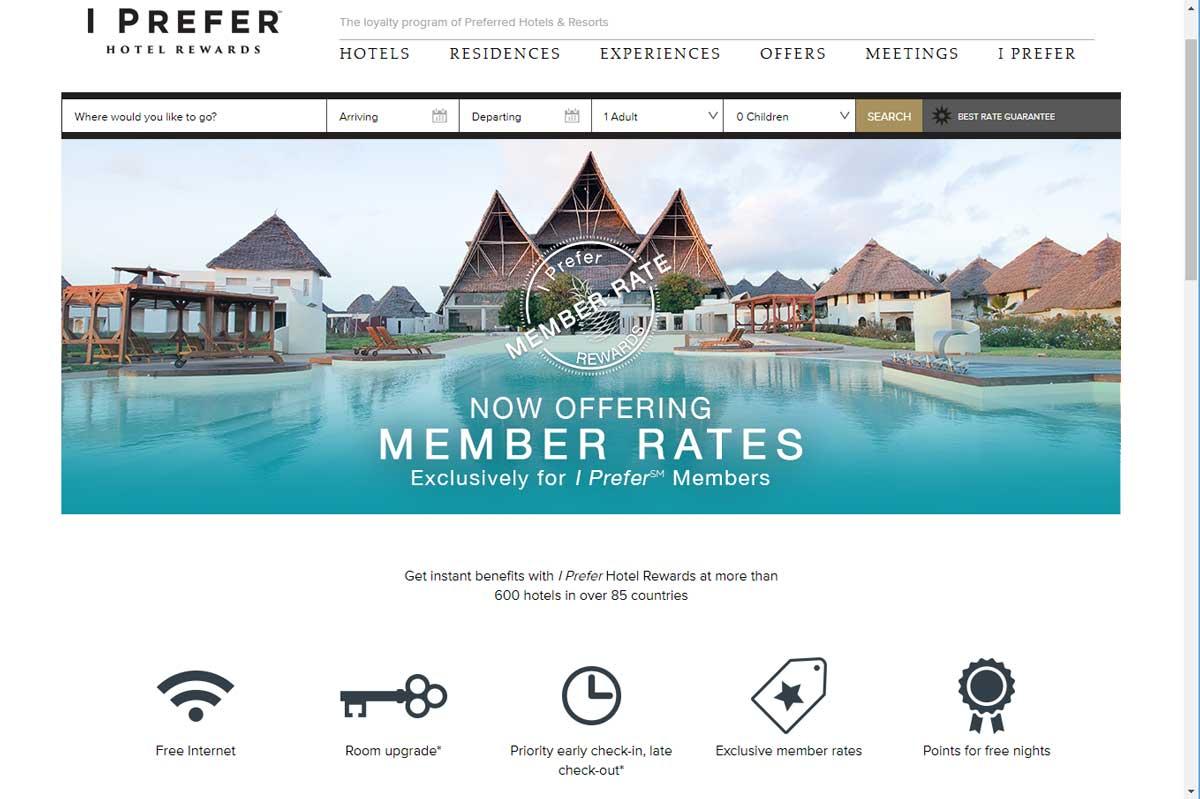 Preferred Luxury Hotel Website Design 1
