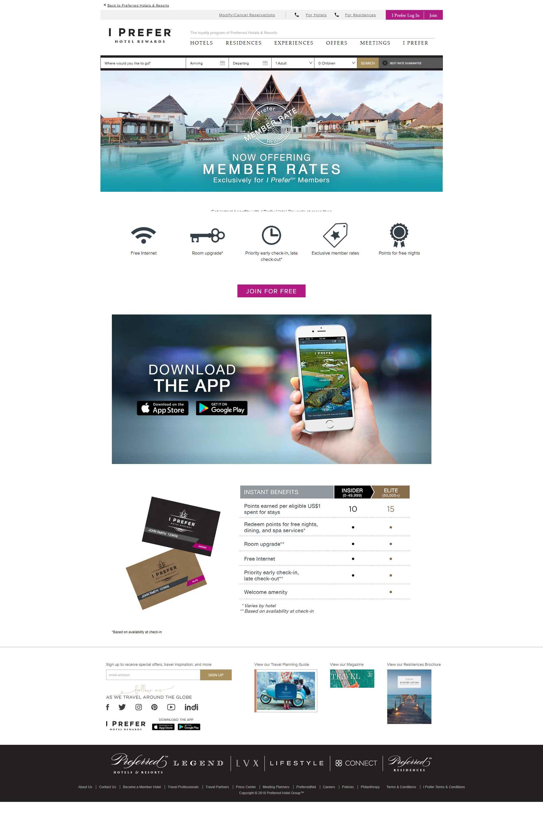Preferred Luxury Hotel Website Design 2